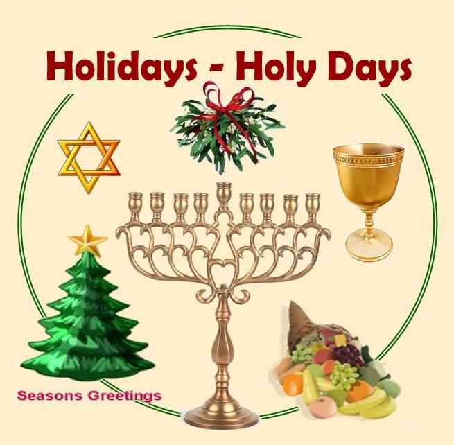 Years as positive perspectives in regards to holidays or holy days